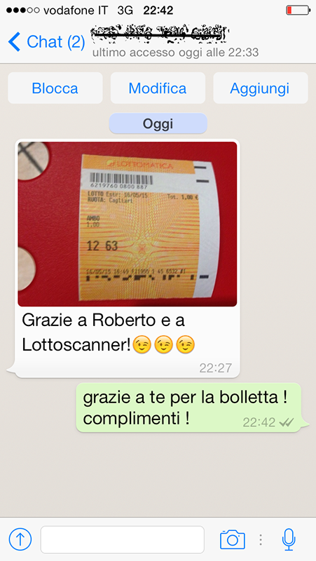 bolletta vincente lotto scanner